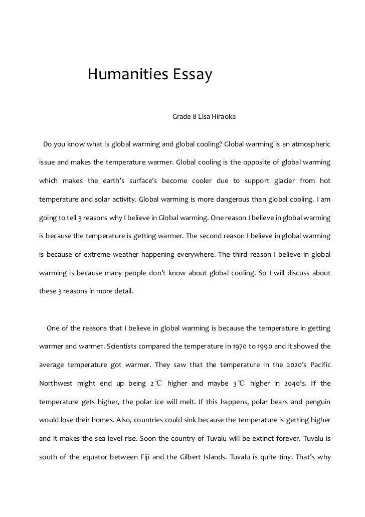 Humanities essay