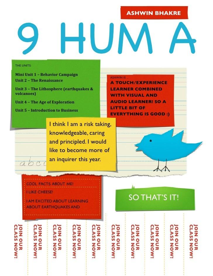 Humanities poster!
