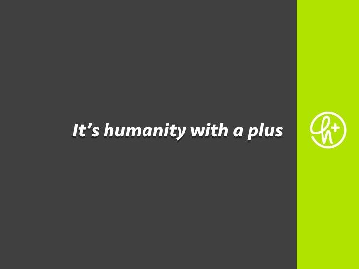 Humanity+ (presentation contest 2010)