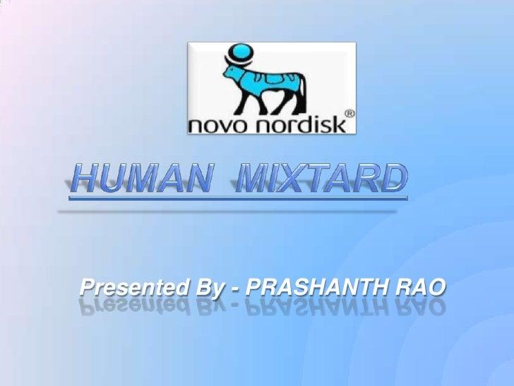 Presentation on Human mixtard