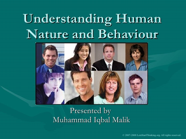 Human Nature And Behaviours