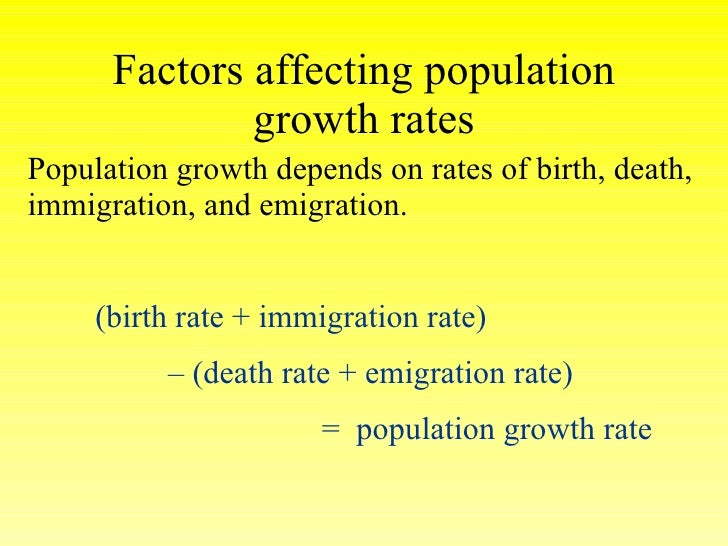 factors affecting population Factors affect health  of these factors is as important to population health as are the social and economic environments in  social determinants of health: .