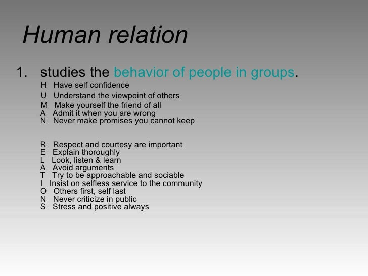 Human Relationship