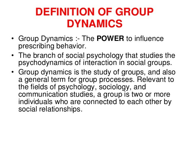 group dynamics in psychology essay