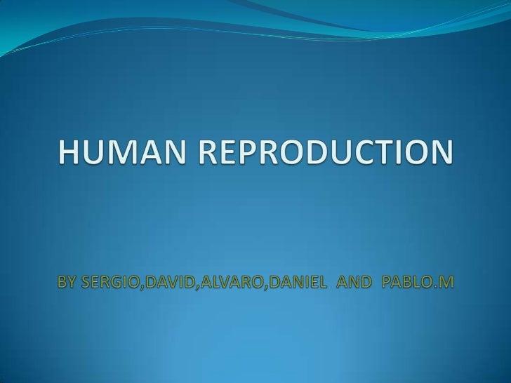 HUMAN REPRODUCTIONBY SERGIO,DAVID,ALVARO,DANIEL  AND  PABLO.M<br />