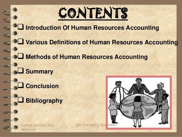thesis on human resource accounting