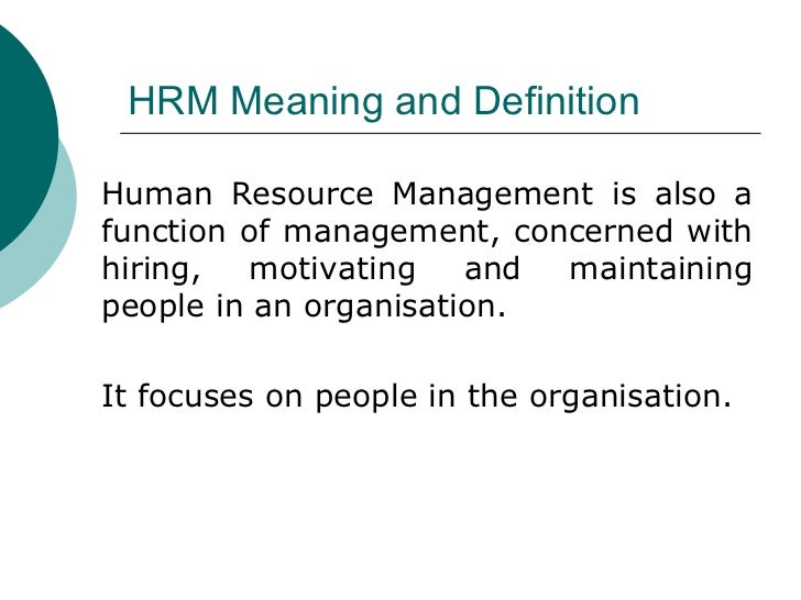 "investigating the effectiveness of human resource management essay In 2009 exploring human resource (hr) managers"" perceptions of how their   our research investigates how employers in this sector, which is  effective  implementation of corporate strategy and the attainment of operational goals."