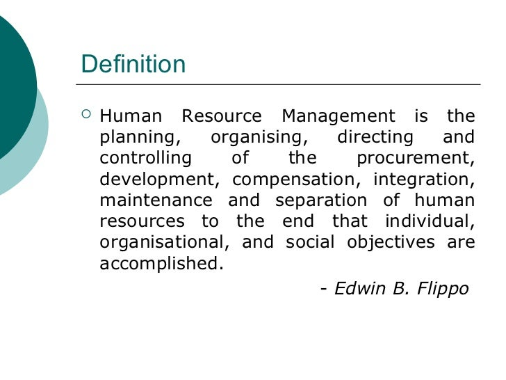 hrm definition by edwin b flippo Principles of personnel management [edwin b flippo] on amazoncom free shipping on qualifying offers.