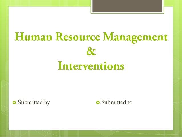 HRM Interventions