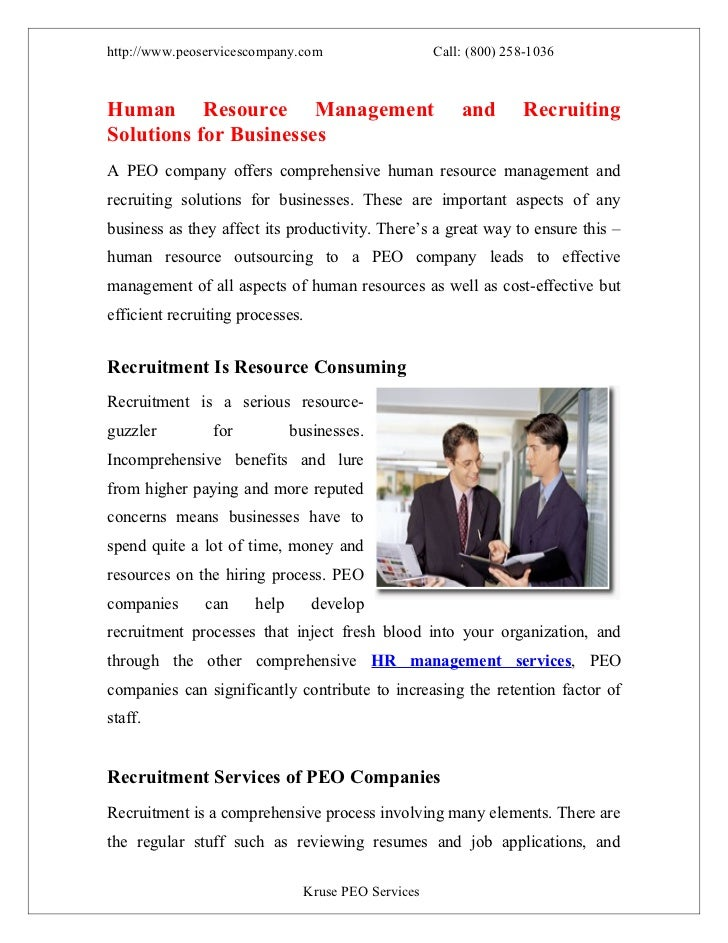http://www.peoservicescompany.com                    Call: (800) 258-1036Human Resource Management                        ...