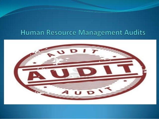 Human resource management audits