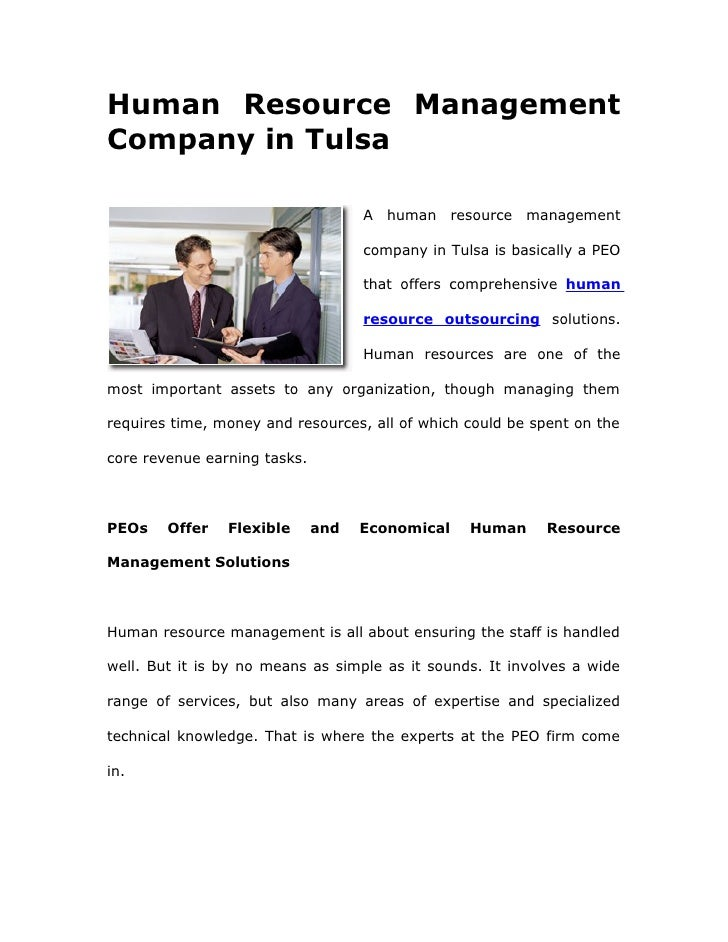 Human Resource Management Company in Tulsa