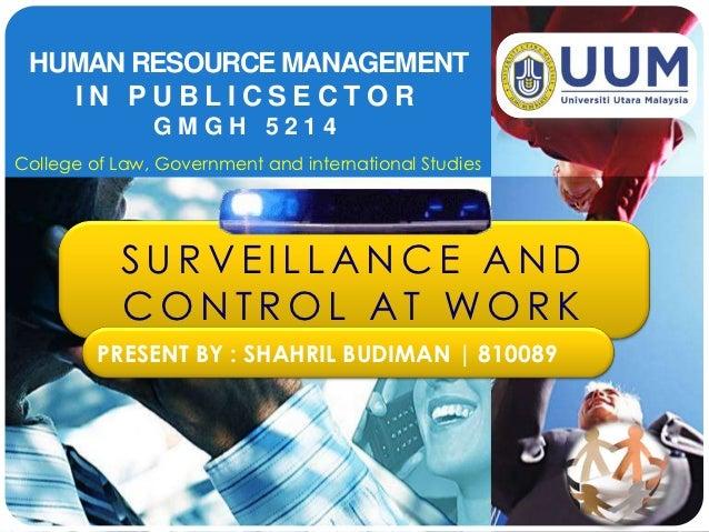 Surveillance and control in organization