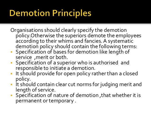 promotion demotion transfer and separation Personnel system rules and regulations 2017 section 9-transfer, promotion, demotion san lorenzo valley water district personnel system rules and regulations.