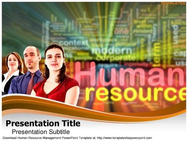 Human Resource Management  Powerpoint Template -templatesforpowerpoint.com