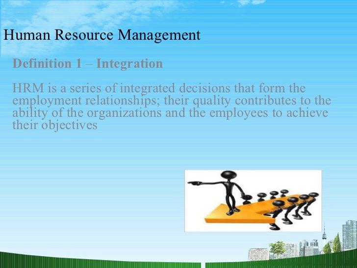 HUMAN RESOURCE MANAGEMENT - PowerPoint PPT Presentation