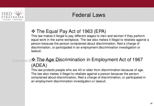 Equal Pay Act Document 45  The Equal Pay Act of