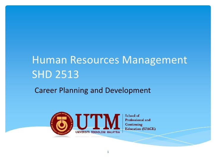 Human Resources ManagementSHD 2513Career Planning and Development                   1