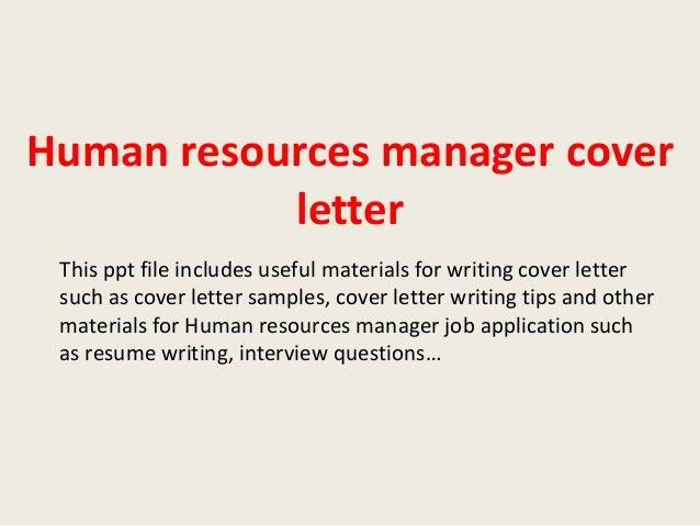 hr covering letter
