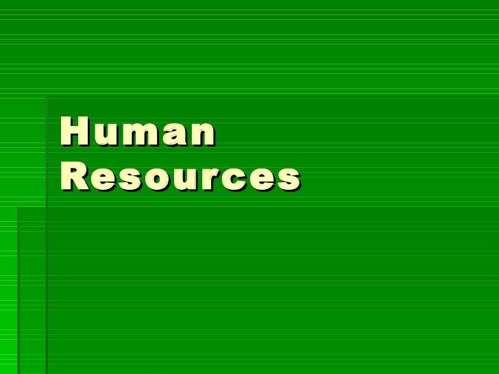 Human Resources   Personality