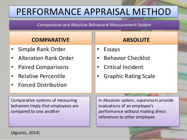 essay method in performance appraisal The type of appraisal interview that seeks to stimulate growth and development in the employee by discussing the problems, needs, innovations, satisfactions, and dissatisfactions the employee has encountered on the job is the ____ method.