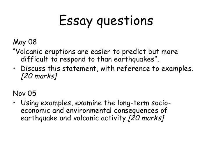 Research paper earthquakes