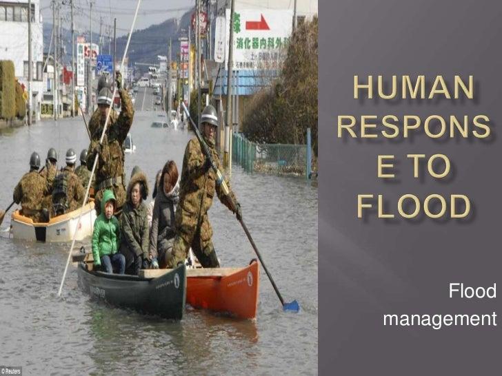 Human response to flood