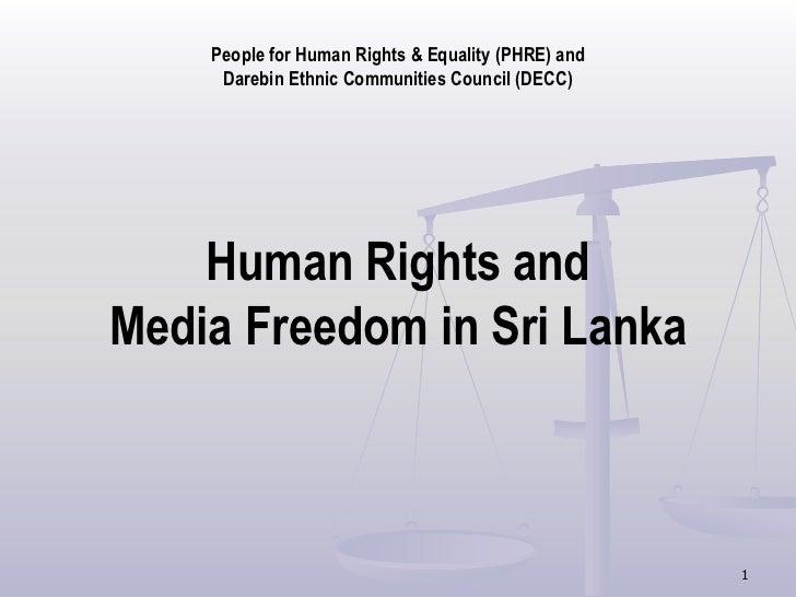 Human rights and media freedom in sri lanka
