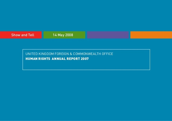 Human Rights Annual Report presentation