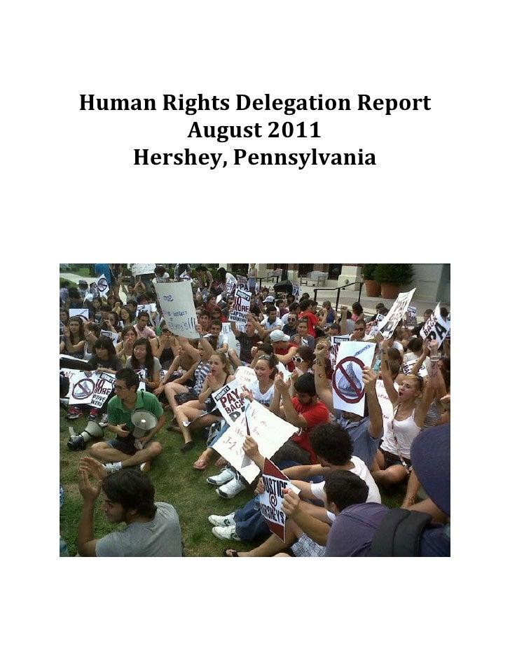 Human rights delegation report hershey, reissue september 8