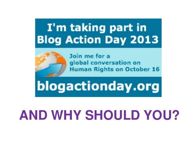 Human rights for blog action day