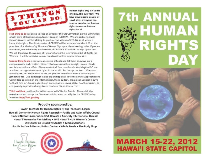 7th ANNUAL                                                         Human Rights Day isn't only                            ...