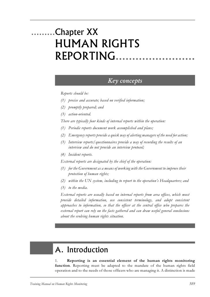 Human Rights Reporting
