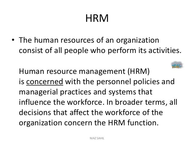the importance of human resources essay