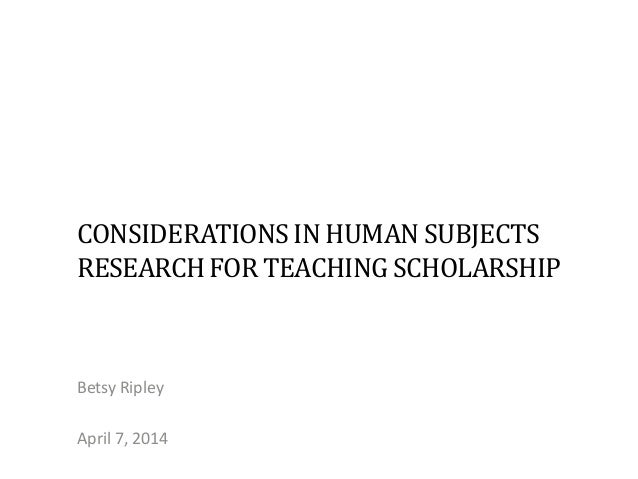 Human subjects and teaching scholarship