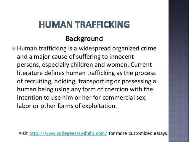 Human Trafficking Essay Topics