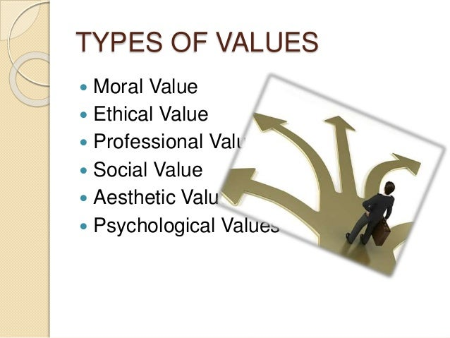 different types of values pdf