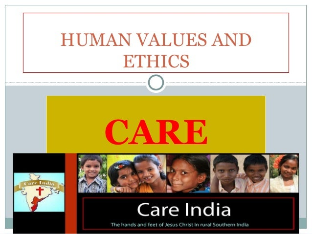 Human values and ethics care pres