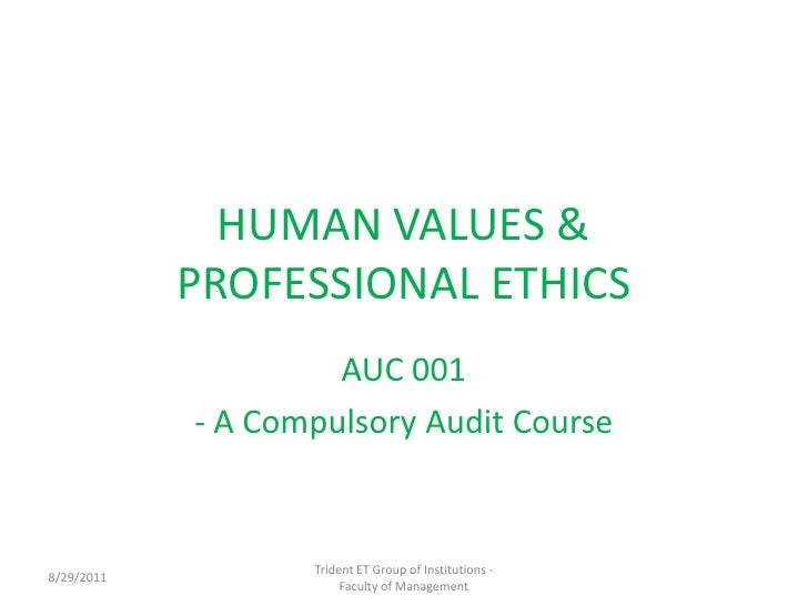 professional ethics and values essay