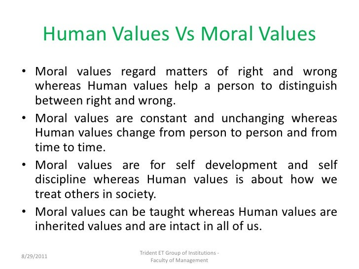 Essay about values and ethics