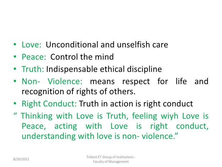 right conduct