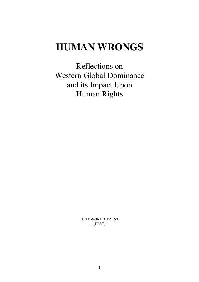 Human wrongs   just world trust