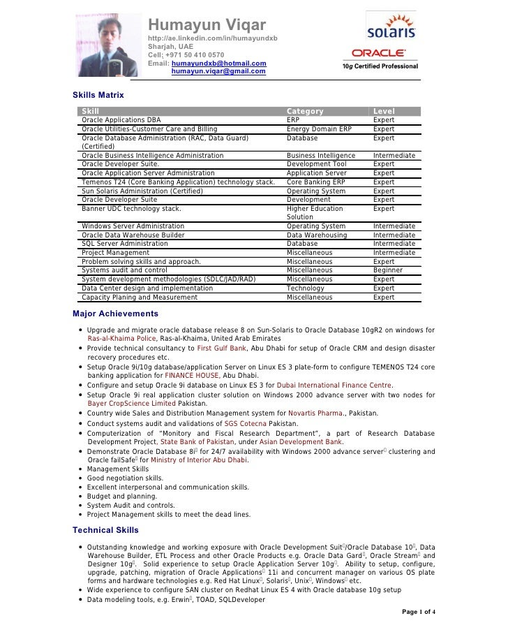 informatica developer resume quality resumes download dba resume examples oracle