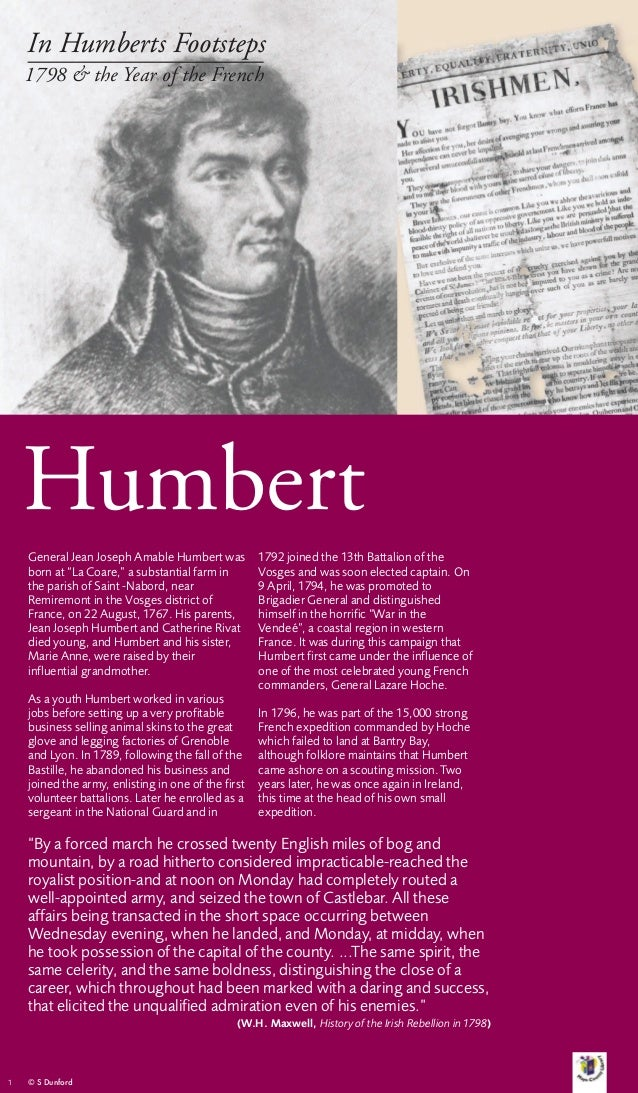In Humberts Footsteps    1798 & the Year of the French    Humbert    General Jean Joseph Amable Humbert was           1792...