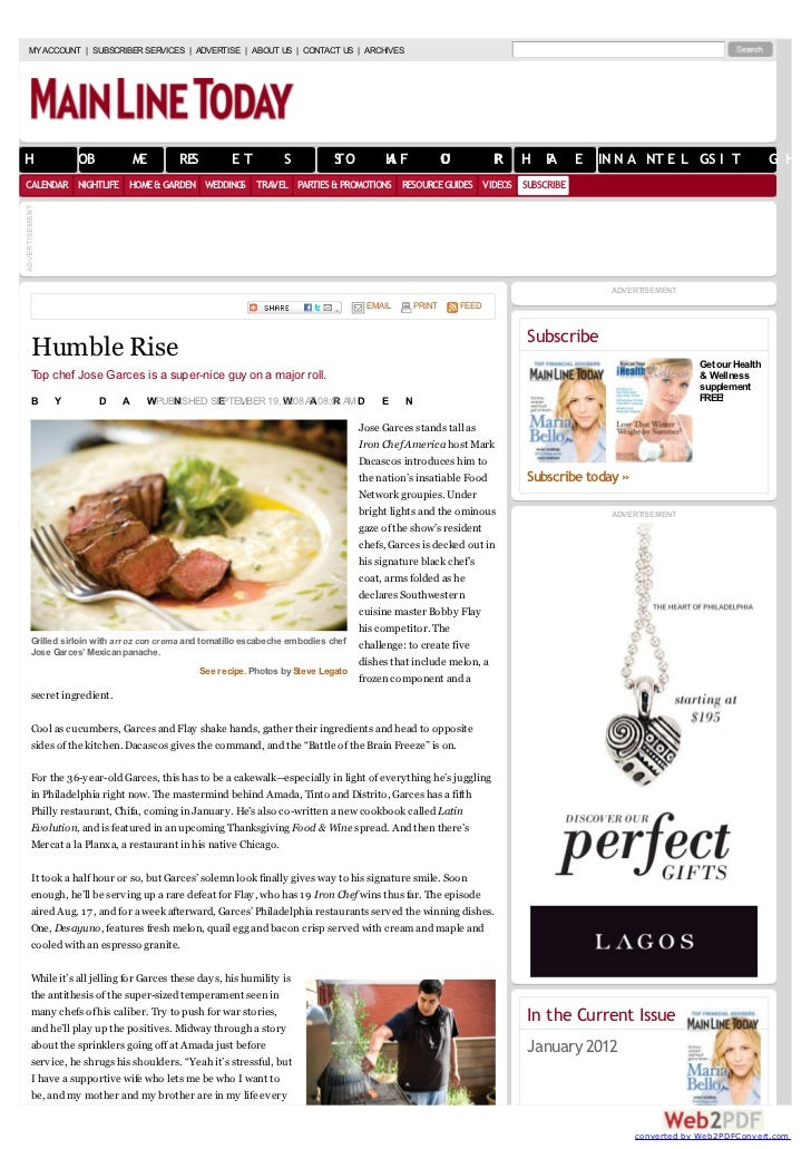 Humble rise (interview with jose garces)