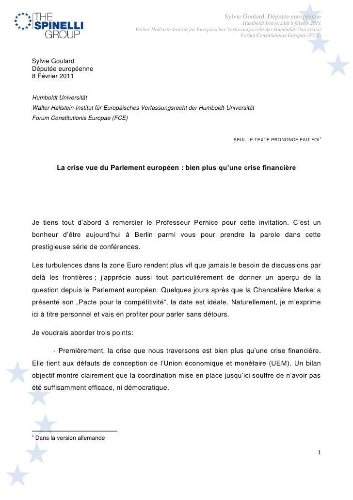 Sylvie Goulard, Députée européenne                                                                                    Humb...