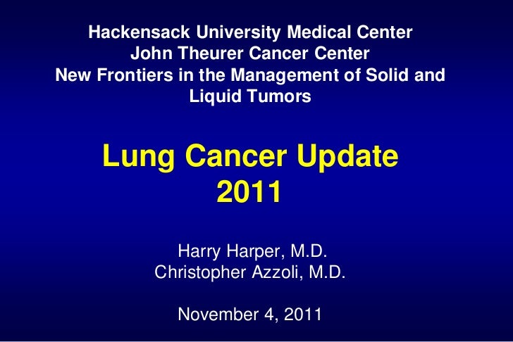 Current Modalities in the Treatment of Lung Cancer