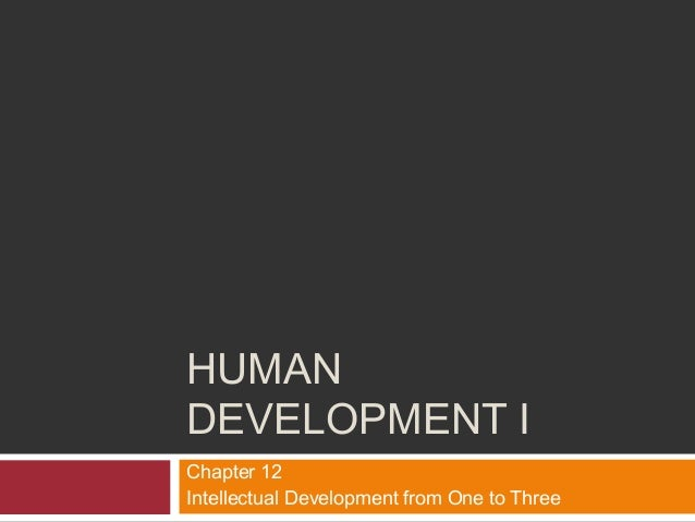 Human Development I - Chapter 12 - Intellectual Development, Ages 1-3