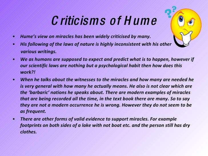 Hume and his views on human nature?
