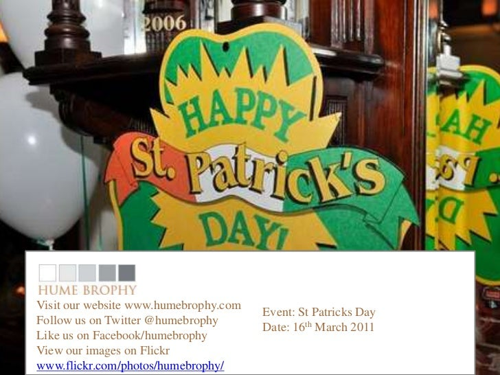 Visit our website www.humebrophy.com                                       Event: St Patricks DayFollow us on Twitter @hum...